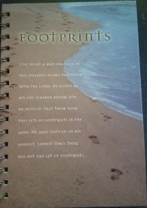 footprints-prayer-wirebound-journal